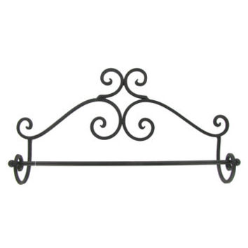 Black Brown Metal Wall Towel Rack | Hobby Lobby | 465914