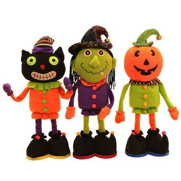 Halloween Decorations Dolls Ornaments Pumpkins Witches Black Hats Home Decor Toys