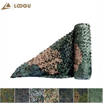 LOOGU E 1.5M*4M Bulk Roll Woodland Camo Netting with mesh Jungle Shelter outdoor Camping Military Hunting Camouflage Netting