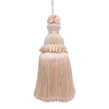 "Decorative 5"" Key Tassel, Ivory, Sand Imperial II Collection Style# IKTJ Color: SEASHELL - 5055"