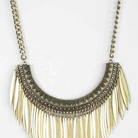 Raining Petals Statement Necklace- Gold One