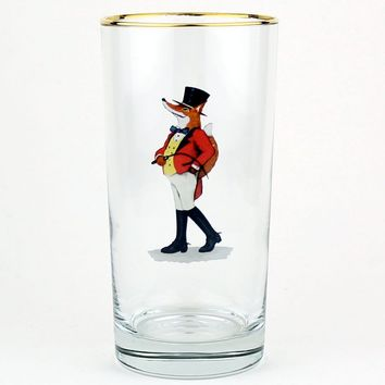 Snooty Fox High Ball Glasses by Richard E. Bishop