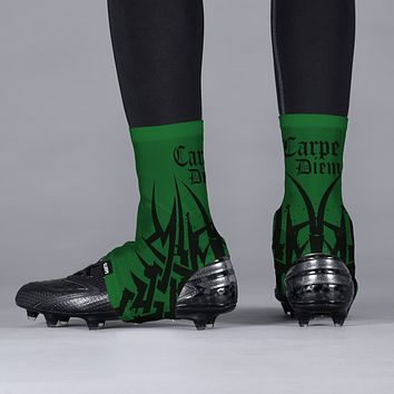 Carpe Diem Green Black Spats / Cleat Covers