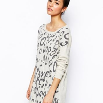 Oasis Metallic Animal Sweater - Beige