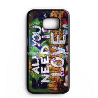 Beatles Graffiti - All You Need Is Love Samsung Galaxy Note 7 Case | aneend