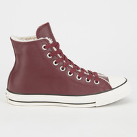 Converse Chuck Taylor All Star Hi Shearling Womens Shoes Borde  In Sizes