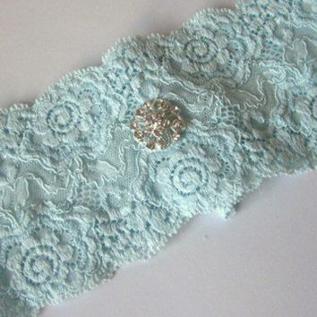 Simply Chic Bridal Garter - Something Blue on Luulla