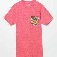 Riot Society Tribal Pocket T-Shirt - Mens Tee - Heather Red
