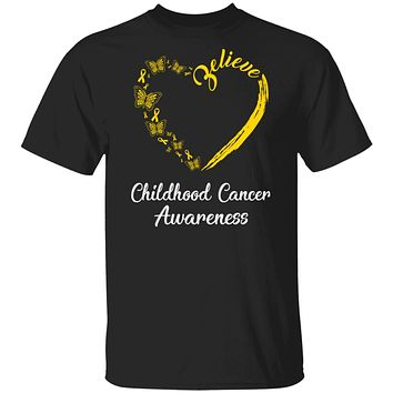 Butterfly Believe Childhood Cancer Awareness Ribbon Gifts