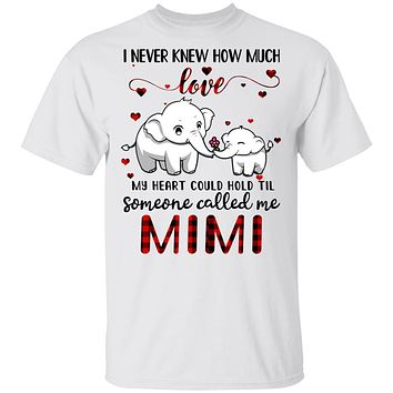 Someone Called Me Mimi Elephant Red Plaid Mother's Day