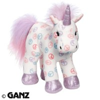 Webkinz Plush Stuffed Animal Peace Unicorn