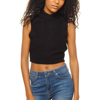 Bring Knit On Sleeveless Top - Black