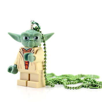 Yoda Necklace - made from Star Wars Yoda LEGO (r) Minifig