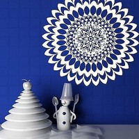 Wall Vinyl Sticker Mandala Circle Meditation Floral Ornament Decor Unique Gift (n228)