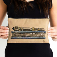 River Song Clutch | Doctor Who Bag | Sonic Screwdriver Zipper Pouch