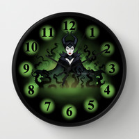 Maleficent 2014 Wall Clock by Katie Simpson | Society6
