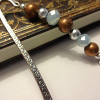 A Love Story, Blue Heart Beaded Bookmark, Books and Zines, Book Lover Gift