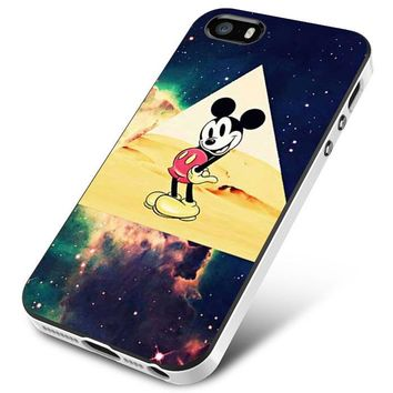 disney Mickey mouse Hipster Triangle Galaxy iPhone 5 | 5S | 5SE Case Planetscase.com