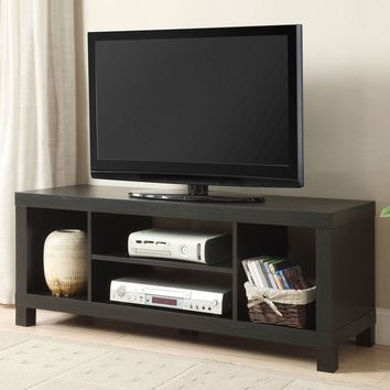 "Brand New Black Oak TV Stand for TVs up to 42"" Living Room Man Cave Family Room"