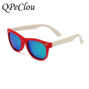 QPeClou Cute Children TR Polarized Sunglasses Kids Sun Glass Baby Boys Girls Glasses TAC Lunettes Gafas Child Oculos UV Protect