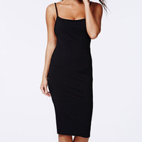 Strappy Backless Bodycon Midi Dress