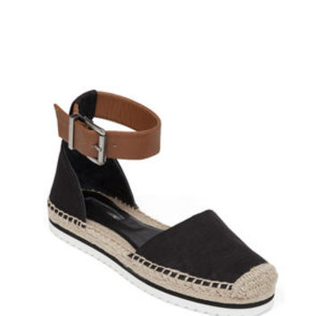 FELICITY ANKLE WRAP ESPADRILLE in Black - BCBGeneration
