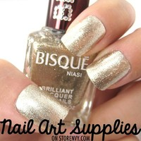 Light Gold - Metallic Textured Gold Glittery Nail Polish Lacquer 16ml
