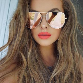sexy rose gold sunglasses ladies 2018 vintage hipster womens pilot sun glasses luxury brand designer mirror fashion points