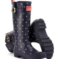 Navy Spot Welly print Womens Wellyprint | Joules US
