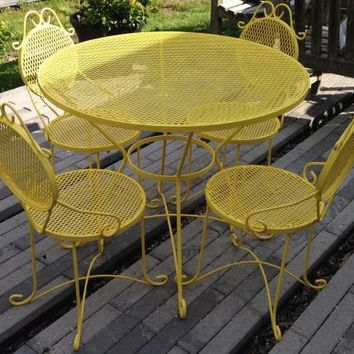 Limoncello! Vintage 6-Piece Wrought Iron Patio Set
