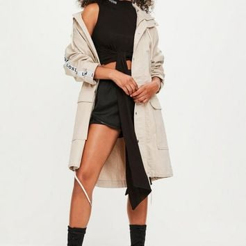 Missguided - Londunn + Missguided Beige Parka