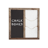 Chalk it Up Wood and Wire Memo Board
