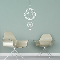 Christmas Ornament Style B Custom Monogram Vinyl Wall Decal 22472