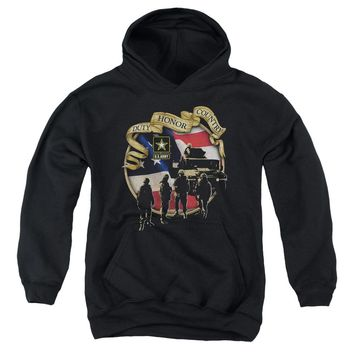 Army - Duty Honor Country Youth Pull Over Hoodie