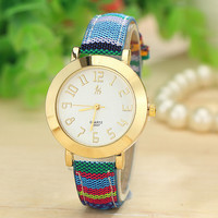 Vintage 4 Colors Knitted Band Analog Quartz Watch