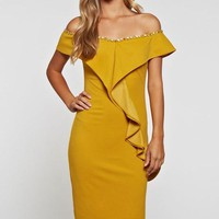 Say Hello Off The Shoulder Dress