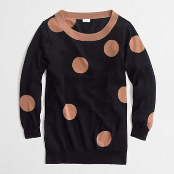 Factory intarsia Charley sweater in big dot