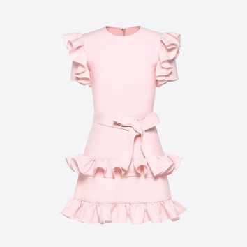 Crepe Couture Dress for Woman   Valentino Online Boutique