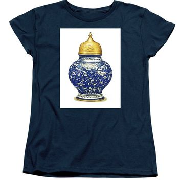 An Ottoman Iznik Style Floral Design Pottery Polychrome, By Adam Asar, No 9a - Women's T-Shirt (Standard Fit)