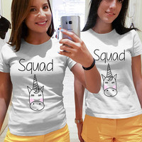 Squad shirts, Best Friends shirts, Sisters shirts, unicorn shirts, unicorn tees