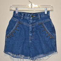 Super High Studded Shorts