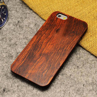 Rosewood Carving Wooden Cover for iPhone 5, 5S, 5SE (Original Grain)