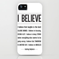 I BELIEVE - Audrey Hepburn iPhone & iPod Case by Rosaura Grant