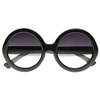 Designer Inspired Round Circle Half Tinted Lens Sunglasses 8511