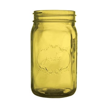 Amber Yellow Mason Jar Wedding Glass Mason Jar Decor Bulk Mason Jars Mason Jar Centerpiece