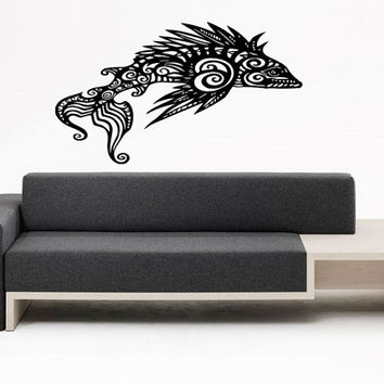 Wall Decal Vinyl Sticker Room Tattoo Fun Decor Floral Abstract Fish 1373