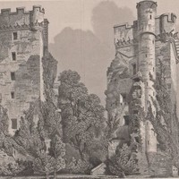 Antique Print Burgie Castle, Nairn. Drawn by R.W.Billings (A8) by Grandpa's Market