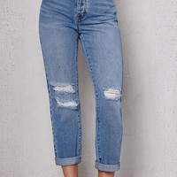 PacSun Tidal Blue Ripped Vintage High Rise Jeans at PacSun.com