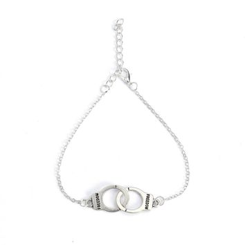 Anklet Chain with Handcuffs Charm