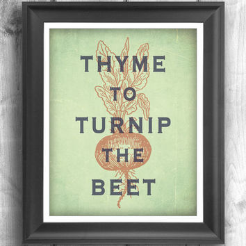 Typographic print, inspirational poster, wall decor, kitchen art, digital print, quote art, wall hanging, garden print - 12x16 - Poster